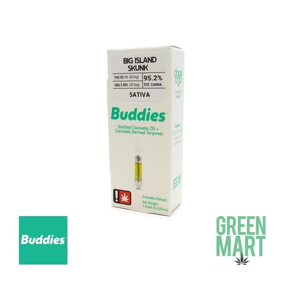 Buddies Brand Distillate Cartridge - Big Island Skunk