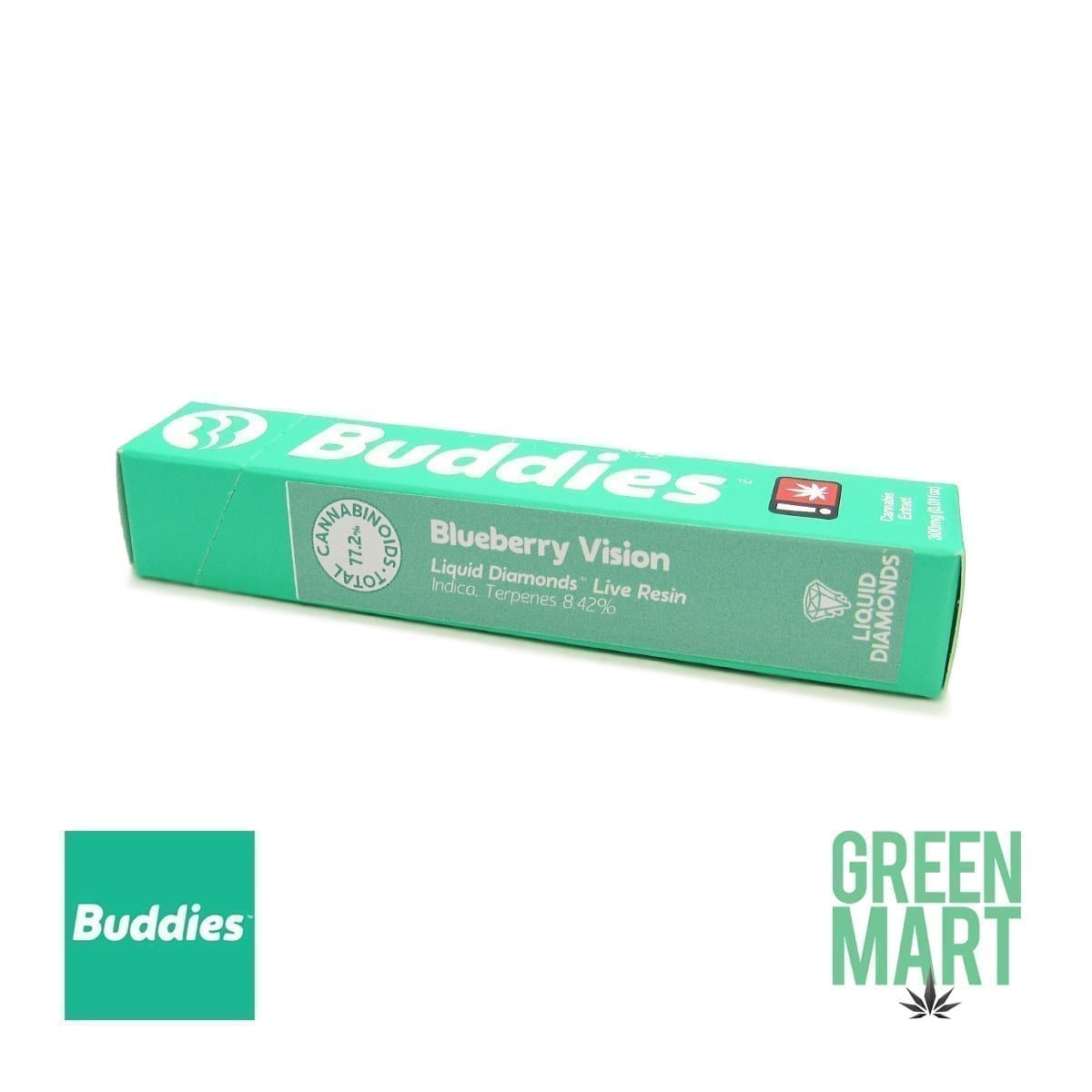 Buddies Brand Disposable Vape - Blueberry Vision