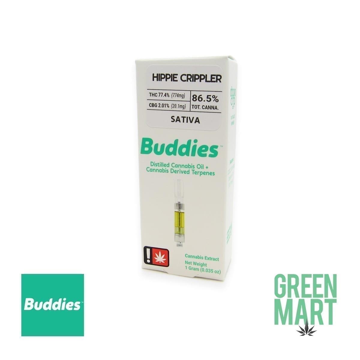 Buddies Brand Distillate Cartridge - Hippie Crippler