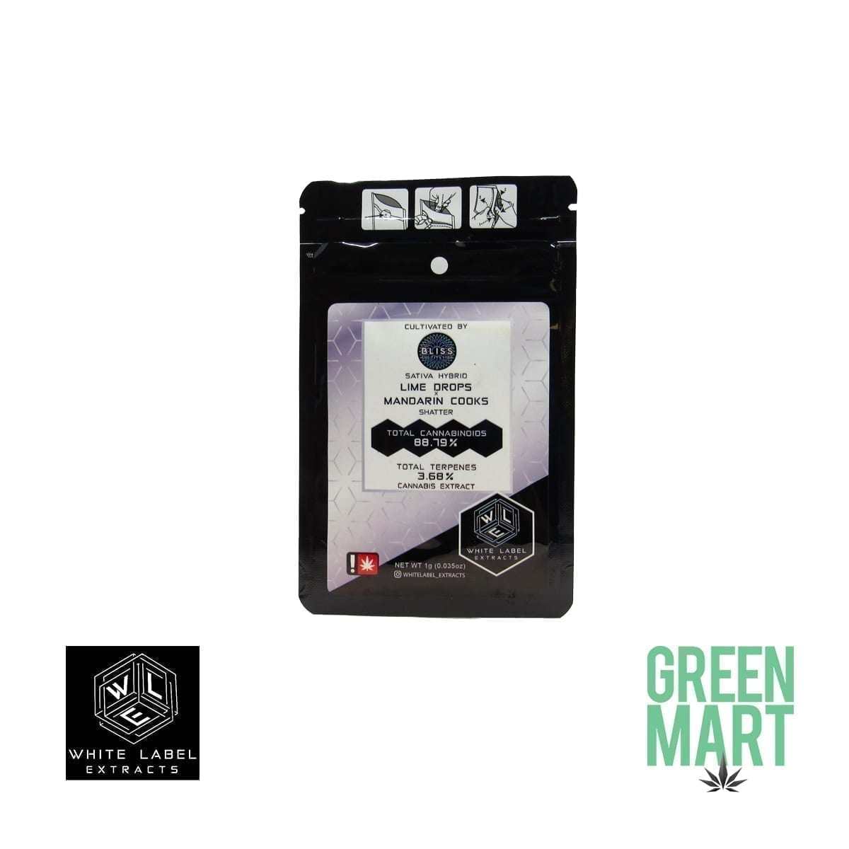White Label Extracts - Lime Drops X Mandarin Cooks Shatter