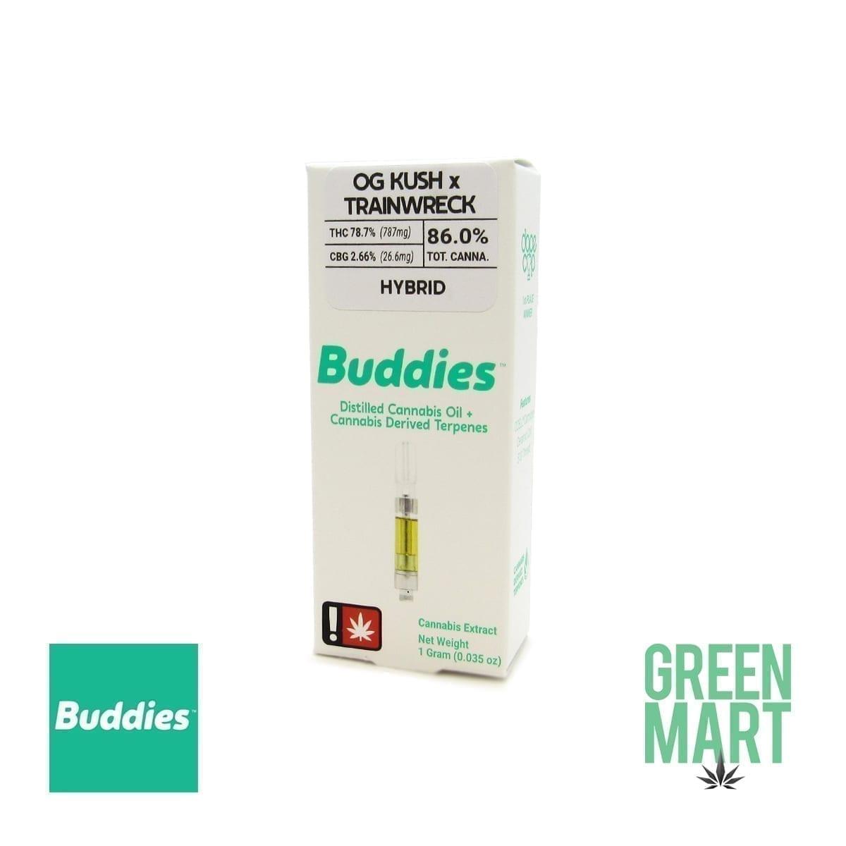 Buddies Brand Distillate Cartridge - OG Kush X Trainwreck