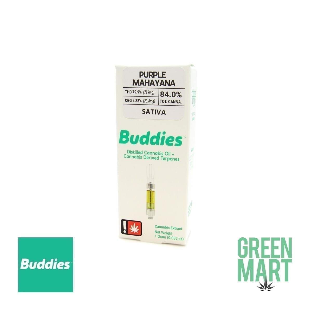 Buddies Brand Distillate Cartridge - Purple Mahayana