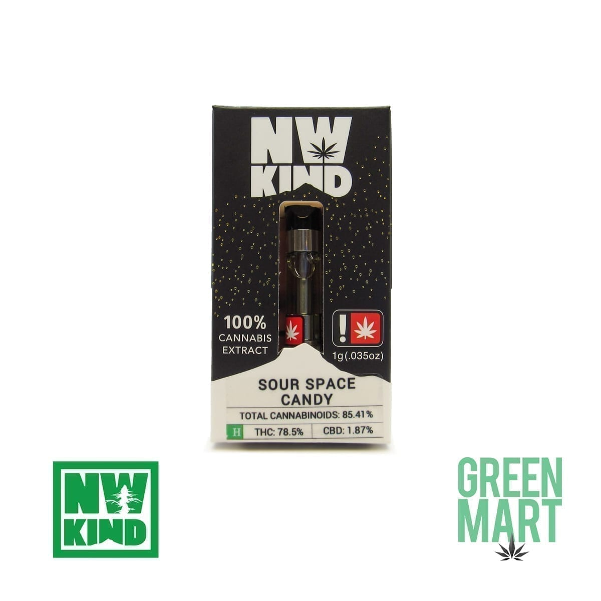 NW Kind Distillate Cartridge - Sour Space Candy
