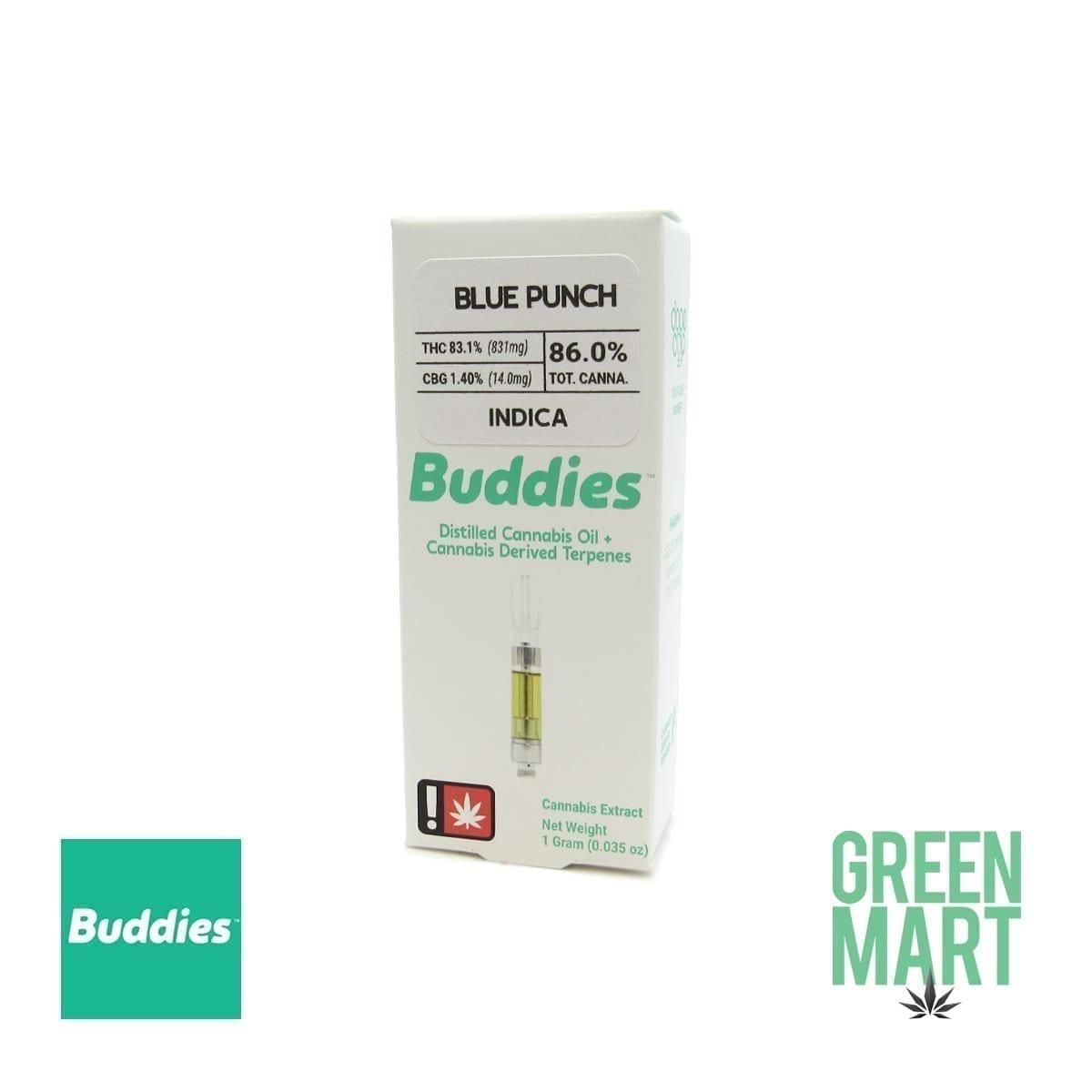 Buddies Brand Distillate Cartridge - Blue Punch