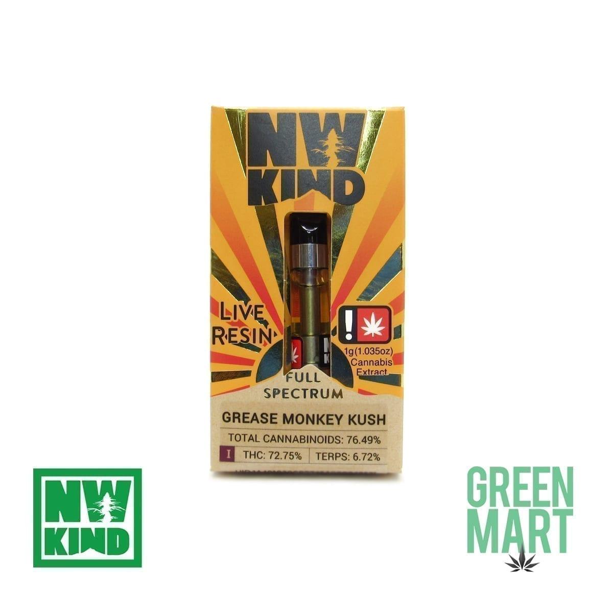 NW Kind Distillate Cartridge - Grease Monkey Kush