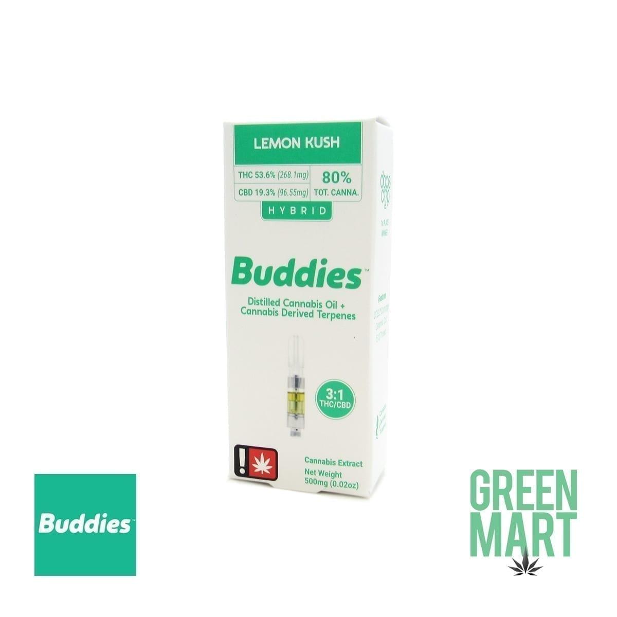 Buddies Brand Distillate Cartridge - CBD Lemon Kush