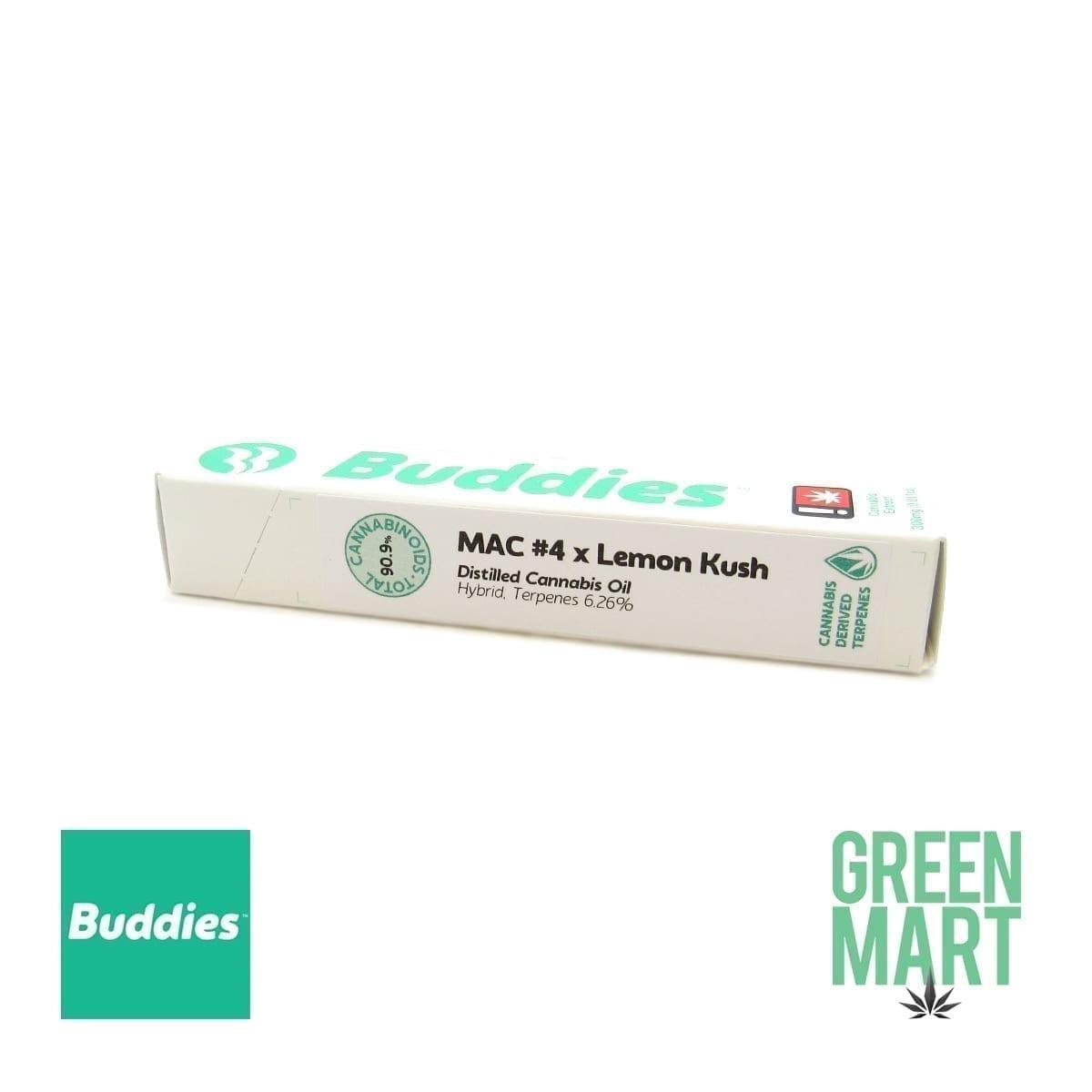 Buddies Brand Disposable Vape - MAC #4 X Lemon Kush