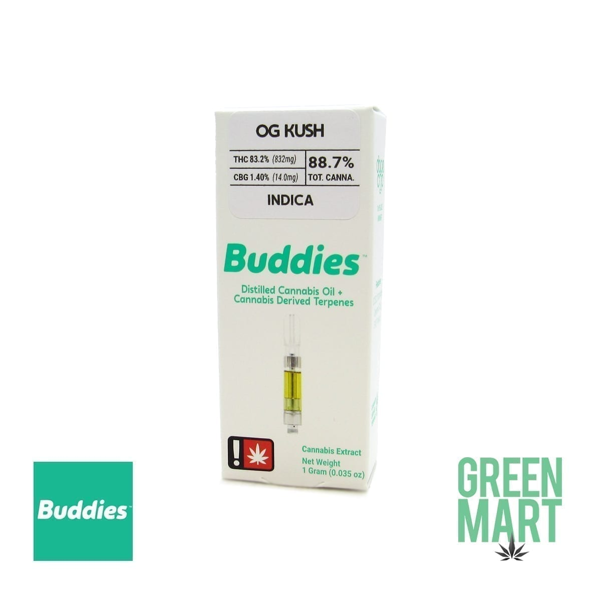 Buddies Brand Distillate Cartridge - OG Kush