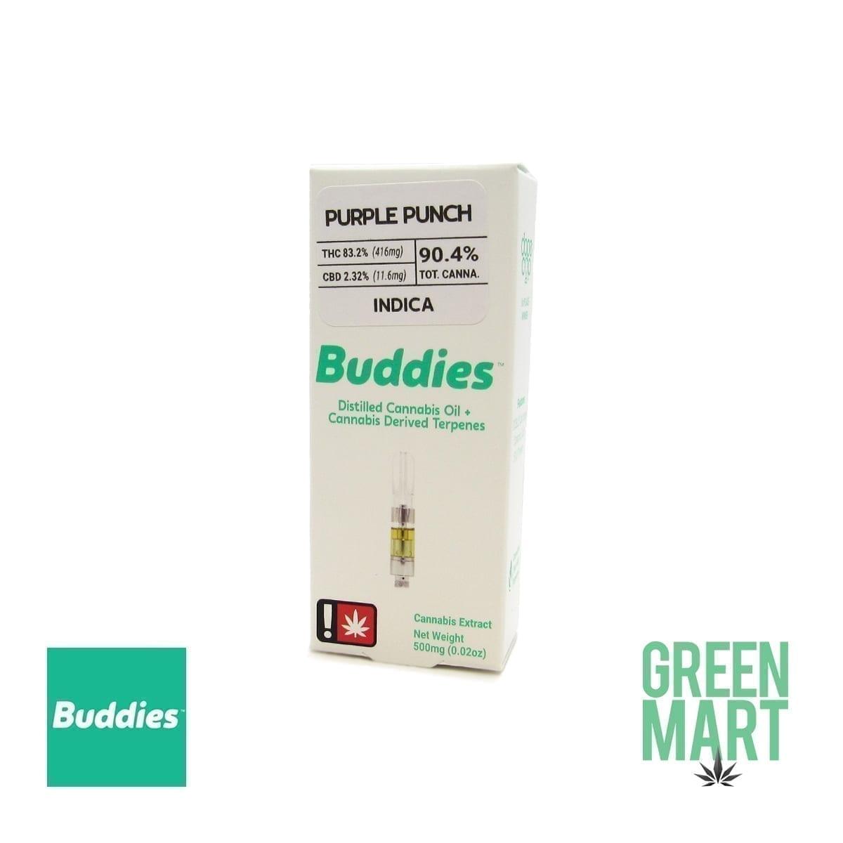 Buddies Brand Distillate Cartridge - Purple Punch