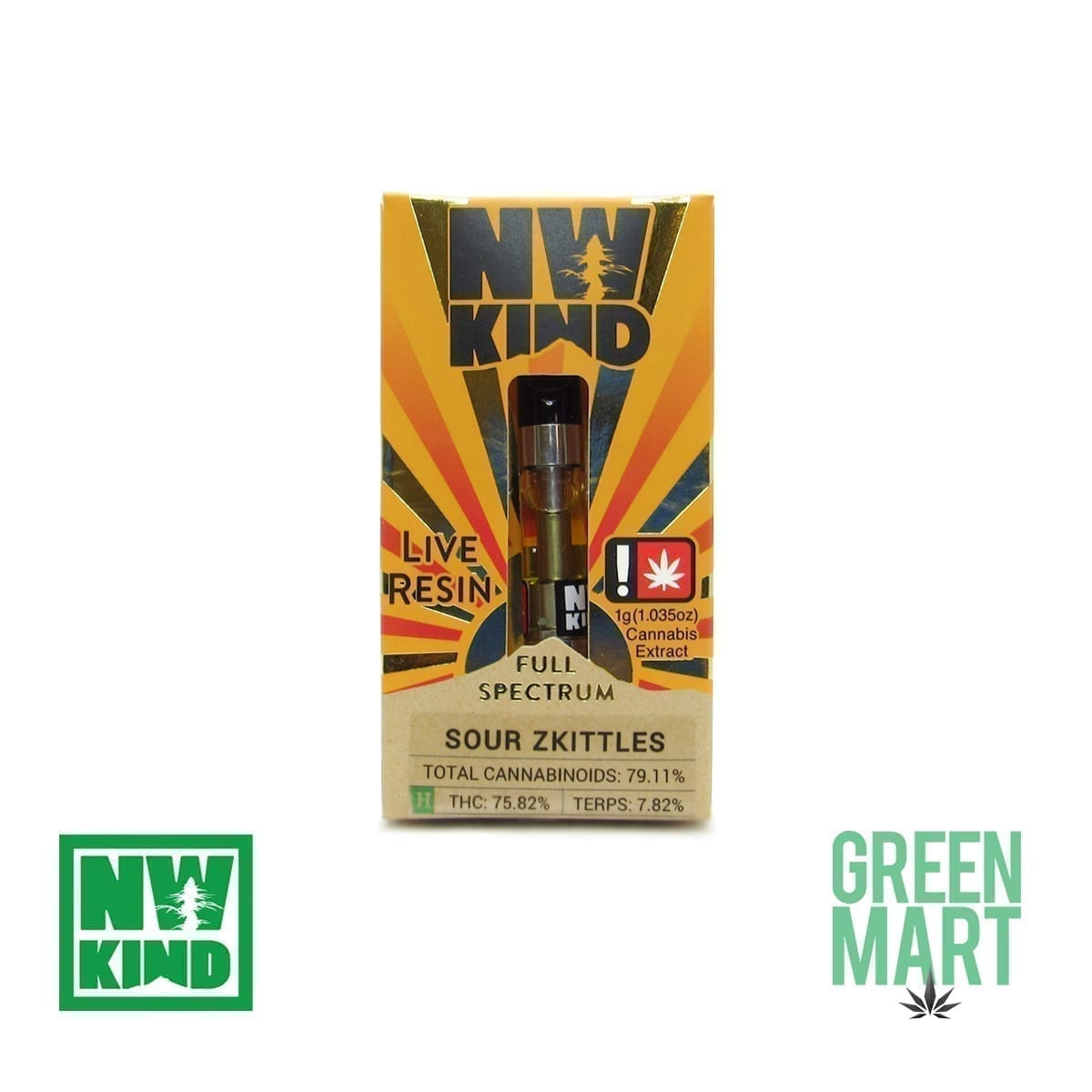 NW Kind Distillate Cartridge - Sour Zkittles