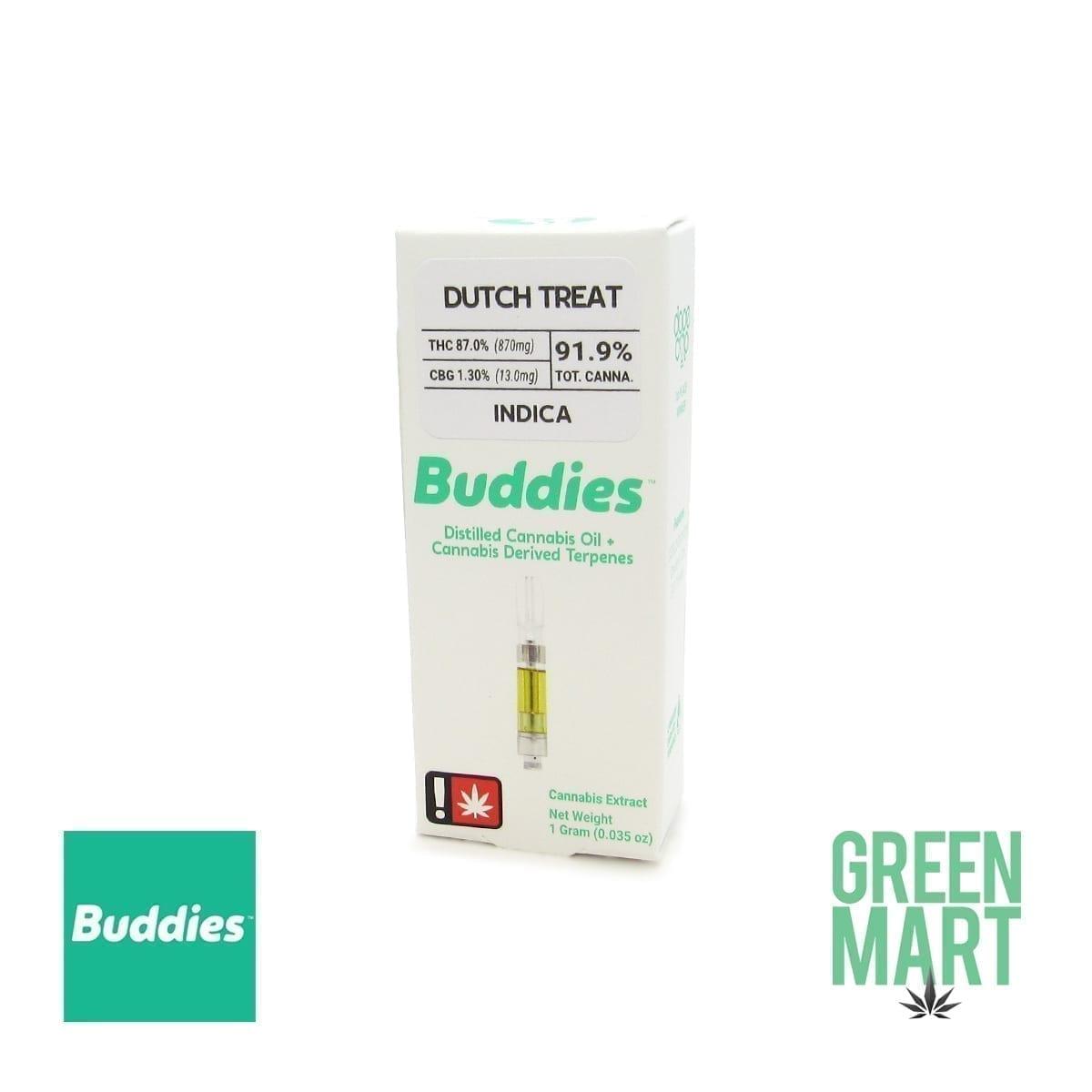 Buddies Brand Distillate Cartridge - Dutch Treat