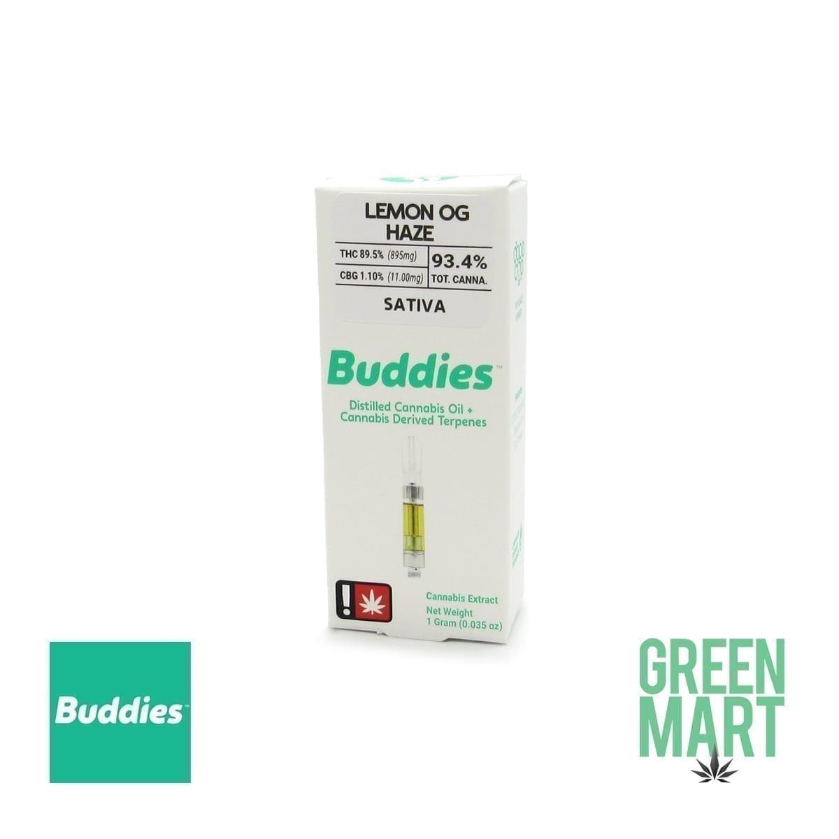 Buddies Brand Distillate Cartridge - Lemon OG Haze