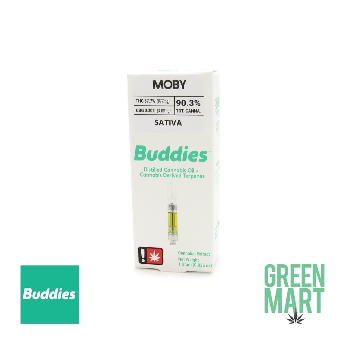 Buddies Brand Distillate Cartridge - Moby