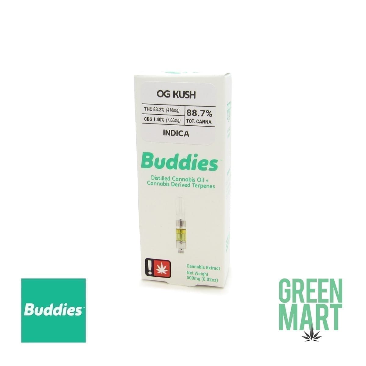 Buddies Brand Distillate Cartridge - OG Kush