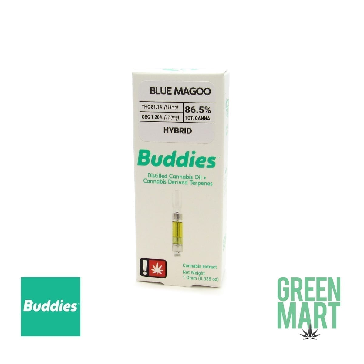 Buddies Brand Distillate Cartridge - Blue Magoo