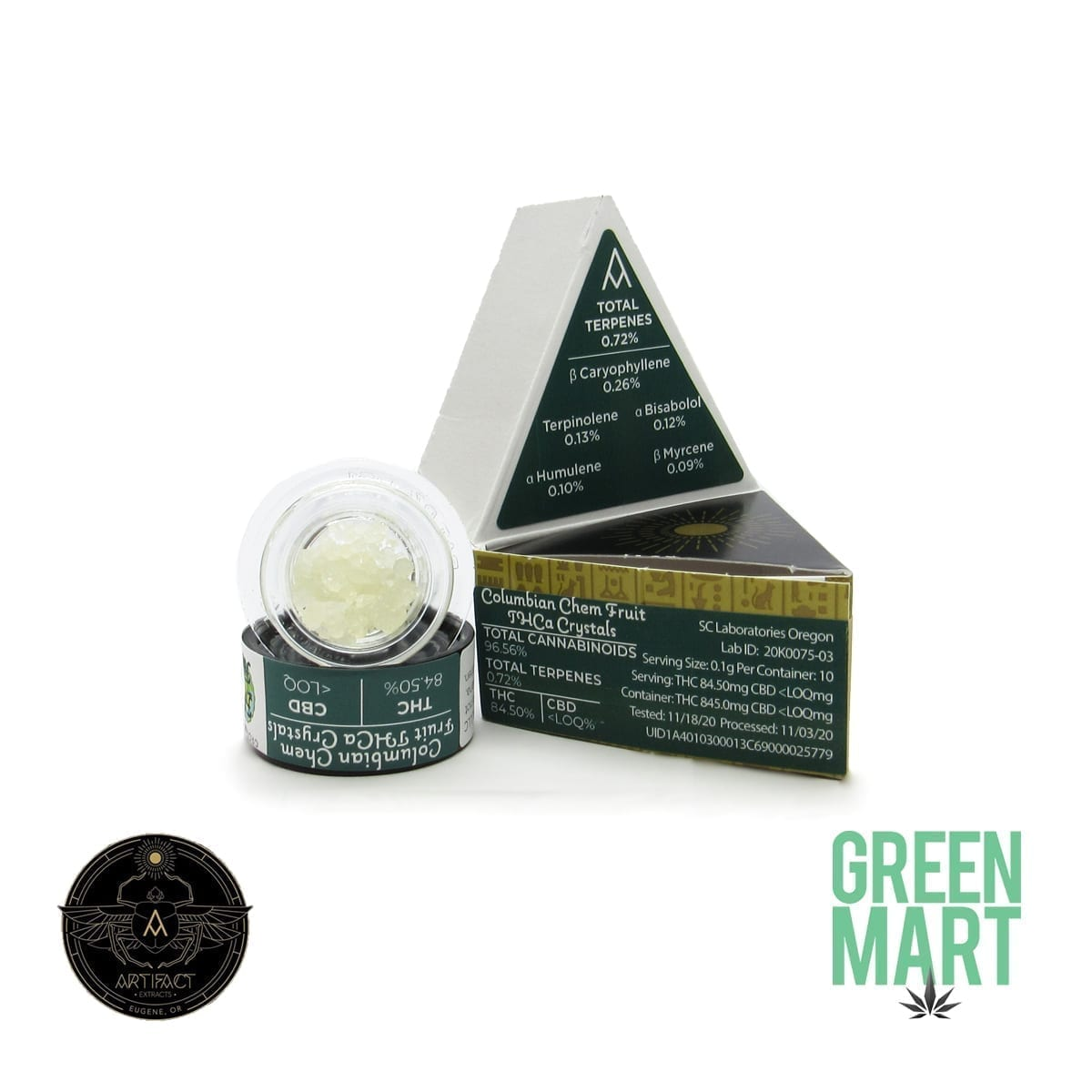 Artifact Extracts - Columbian Chem Fruit THCa Crystals
