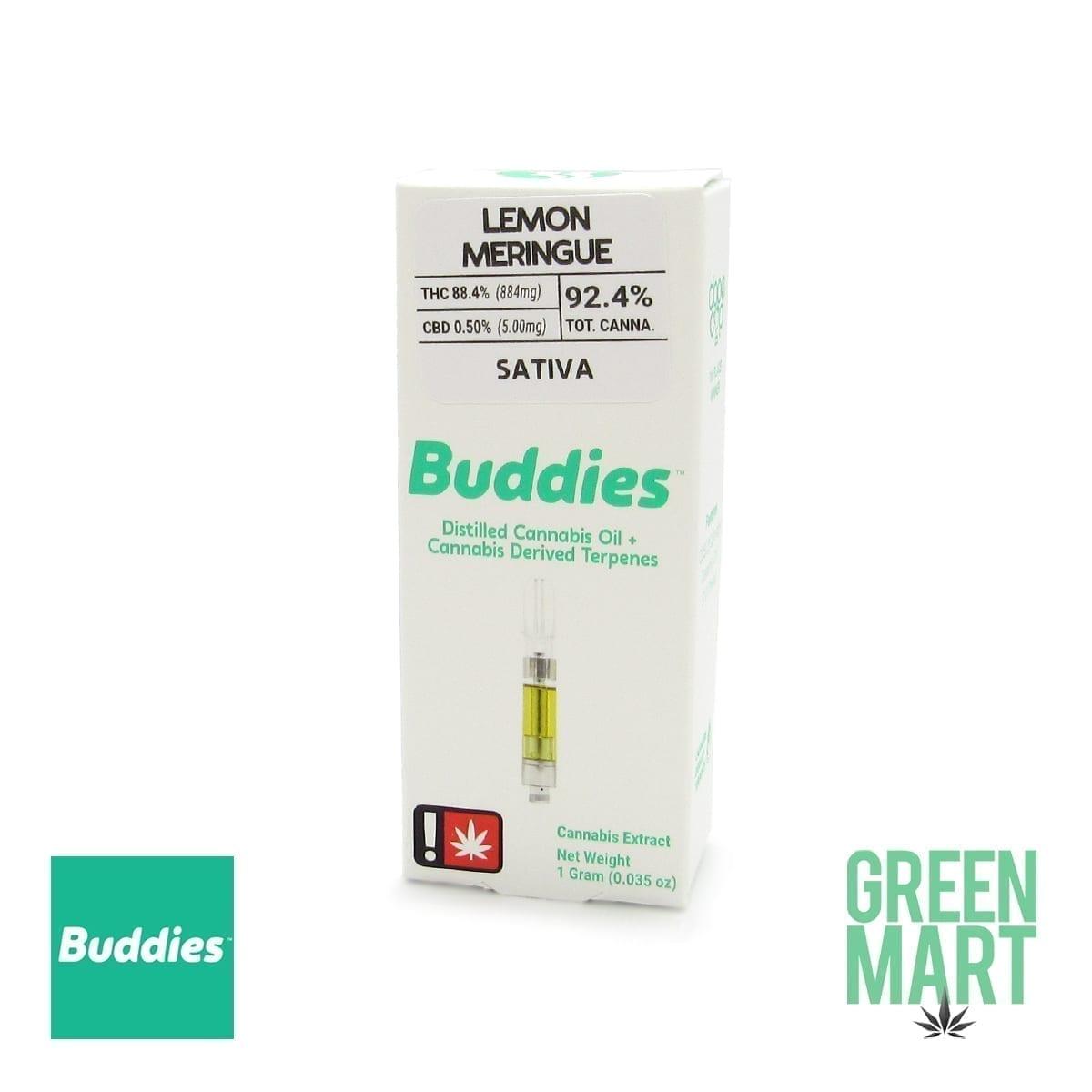 Buddies Brand Distillate Cartridge - Lemon Meringue