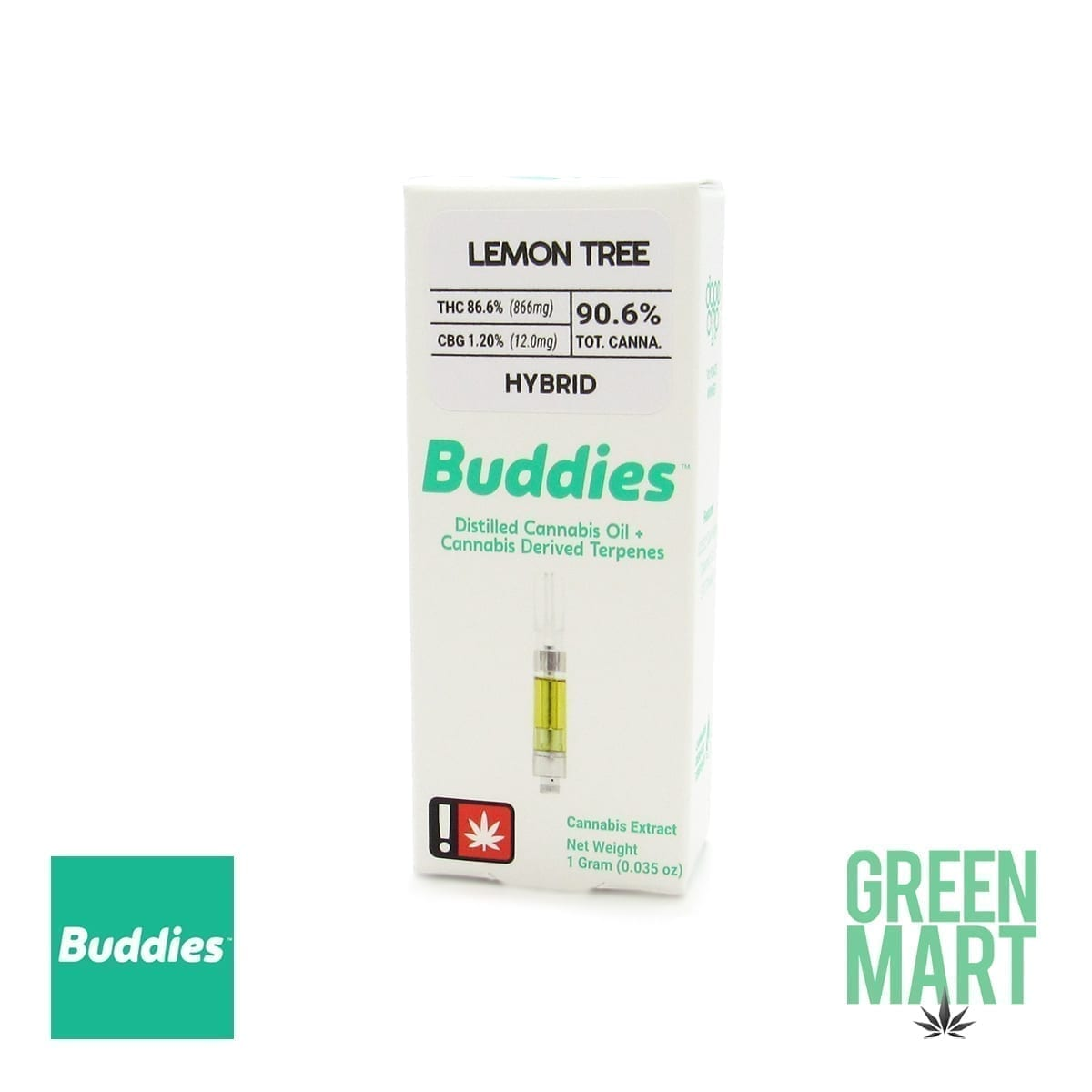 Buddies Brand Distillate Cartridge - Lemon Tree