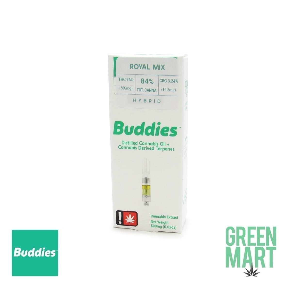 Buddies Brand Distillate Cartridge - Royal Mix