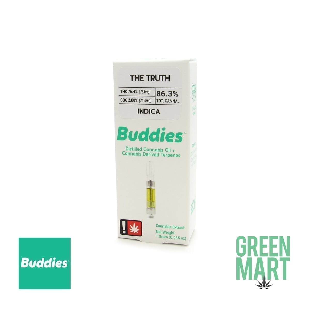 Buddies Brand Distillate Cartridge - The Truth