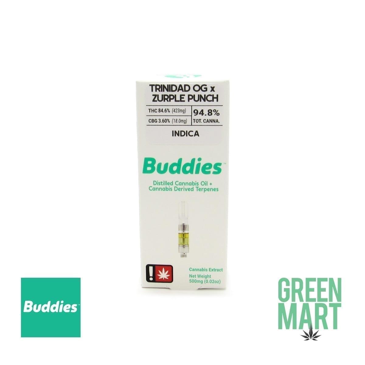Buddies Brand Distillate Cartridge - Trinidad OG X Zurple Punch