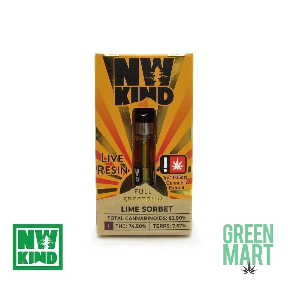 NW Kind Distillate Cartridge - Lime Sorbet