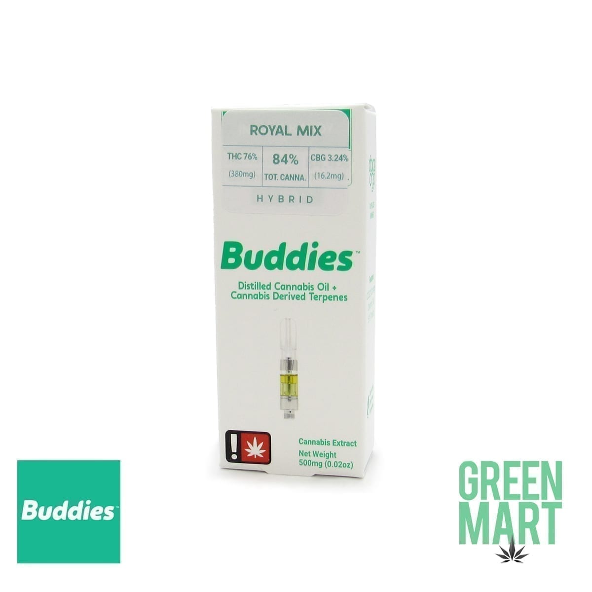 Buddies Brand Distillate Cartridge - Royal Mix