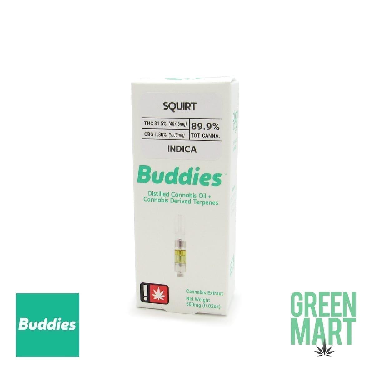 Buddies Brand Distillate Cartridge - SQUIRT