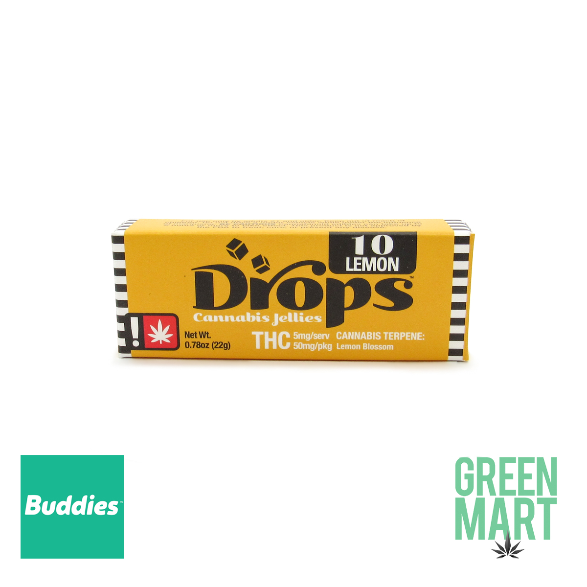 DROPS - Active Lemon 50mg (10 Servings)