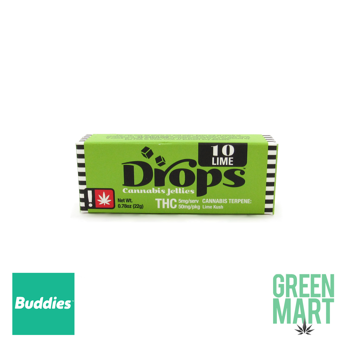 DROPS - Balanced Lime 50mg (10 Servings)