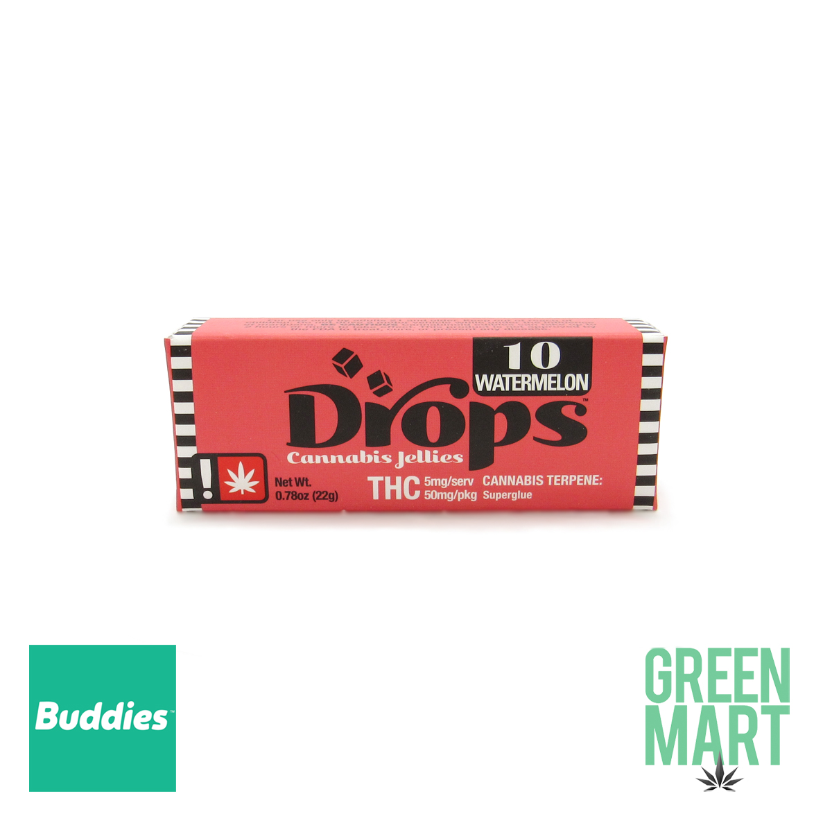 DROPS - Chill Watermelon 50mg (10 Servings)