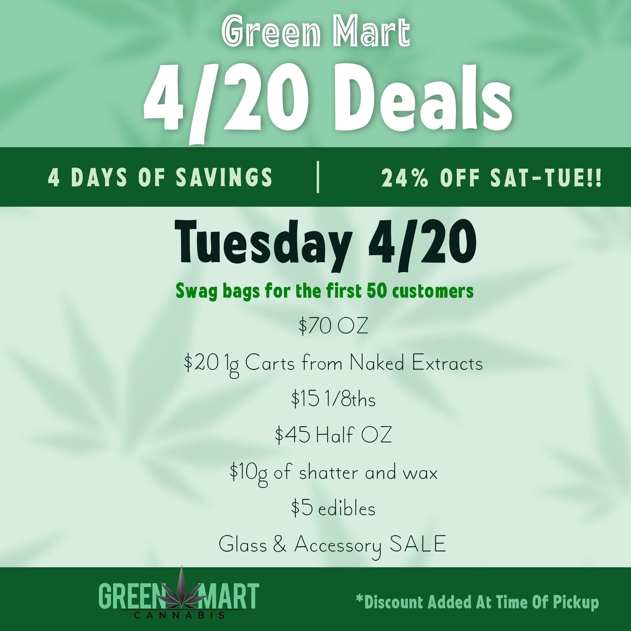 420 Deals!! updated